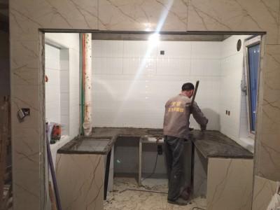 砖砌橱柜施工过程