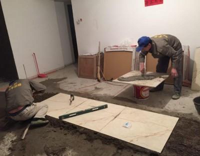 北京装修瓦工贴地砖