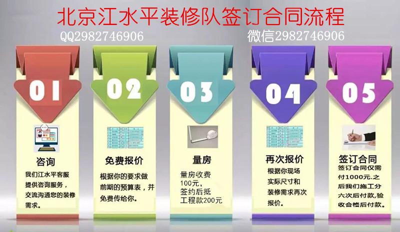 北京江水平装修队签约流程