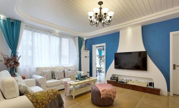 地中海风格客厅瓷砖