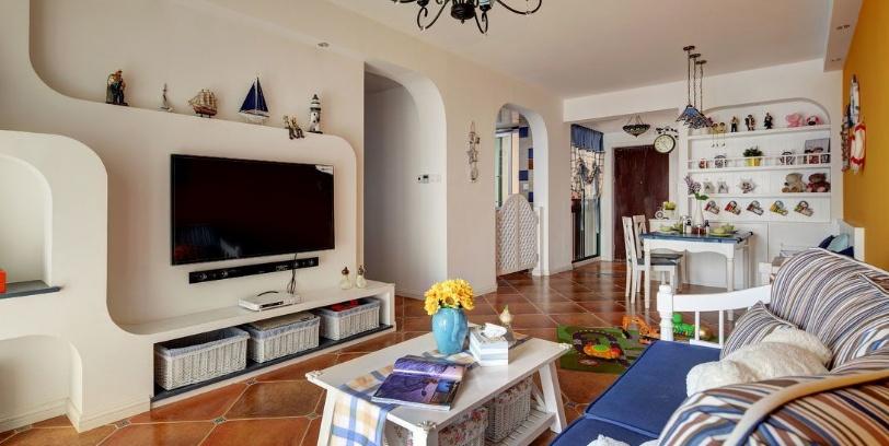 仿古瓷砖演绎柔美地中海风格家居