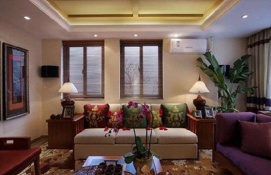 90平方米室内装修,打造东南亚装修风格二居室