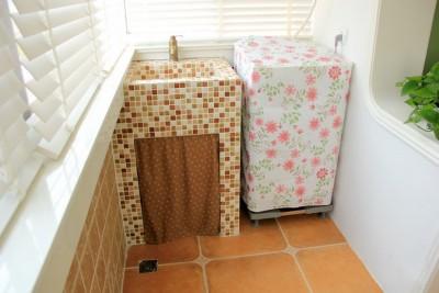 北京欧式装修风格砖砌洗手台