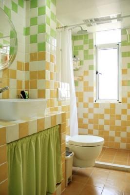 北京欧式装修风格卫生间砖砌洗手台
