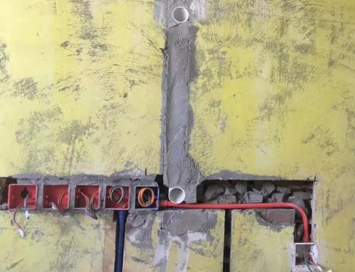 北京江水平装修队石景山中海地产新房装修水电改造进行中,欢迎朋友们参观