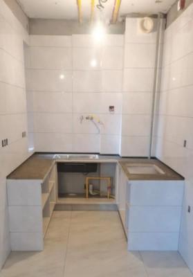 北京江水平装修队瓷砖砌橱柜2