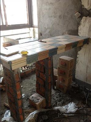 北京江水平装修队砖砌吧台
